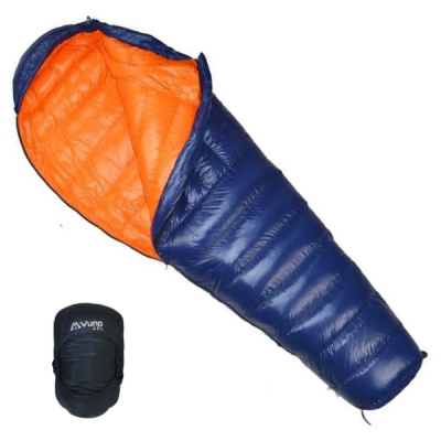 Blue PUFFER Sleeping Bag with Stuff Bag