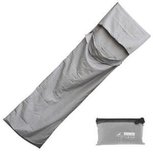 Grey Sleeping Bag Liner with Zip