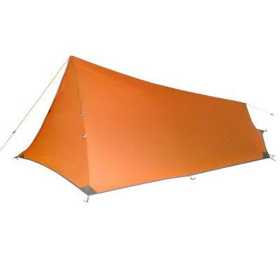 Orange Vuno Port William Ultralight weight Hiking Camping tent side view