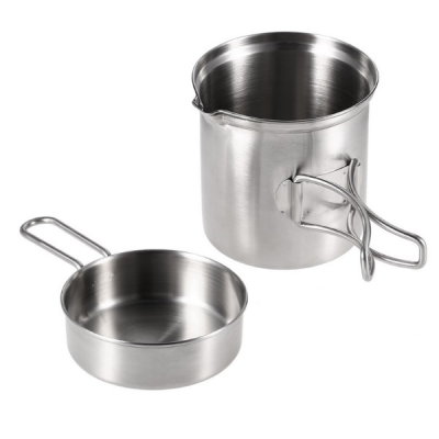 Pot and pan set for wood burning stove