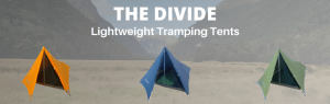 The Divide Lightweight Tents Available in three colours