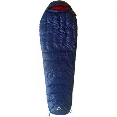 Light Weight Sleeping Bag Vuno Big Blue Puffer -5-10°C Winter fully closed