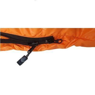 Vuno ORANGE PUFFER light weight hiking sleeping bag dual zip image