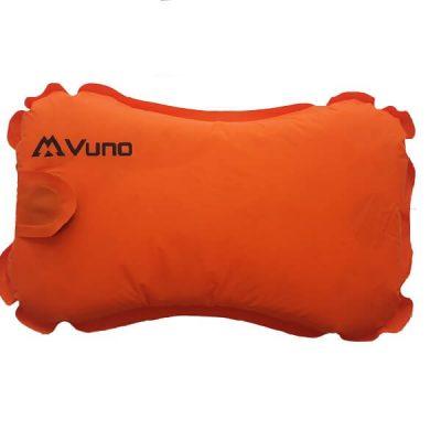 Vuno Vitality Ultralight Weight Foam Inflatable Air Hiking Pillow Orange
