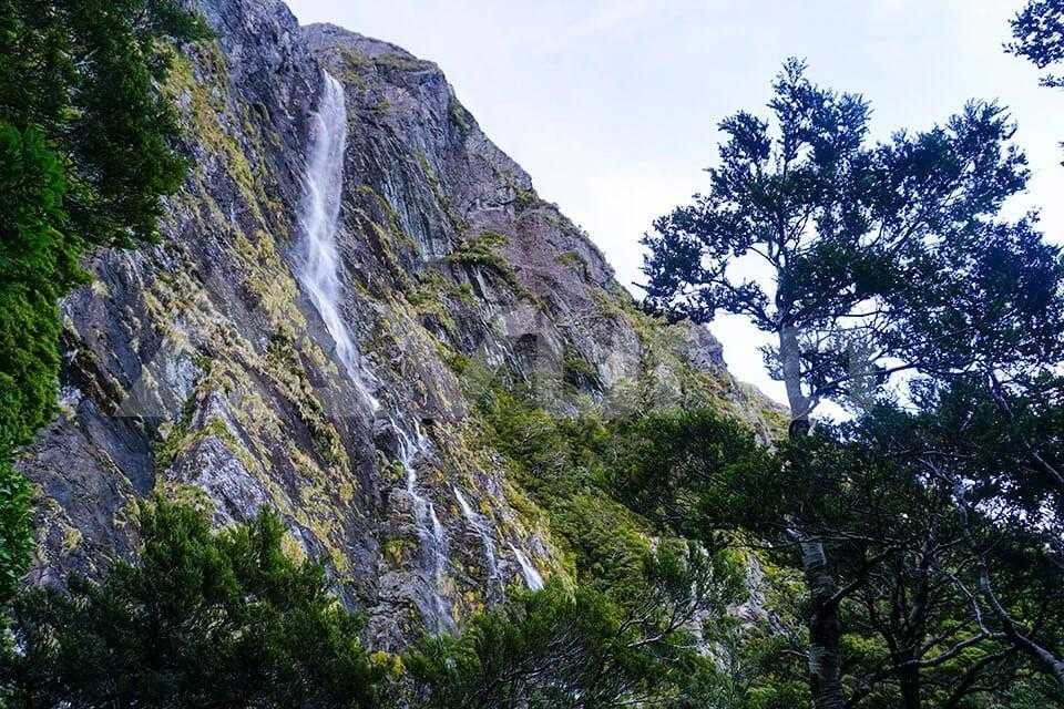 Descending past Earland Falls Routeburn Track NZ Day 3