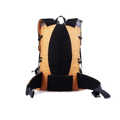 38L Ultralight Backpack Orange Back Profile