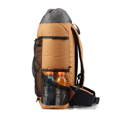 38L Ultralight Backpack Orange Side Profile