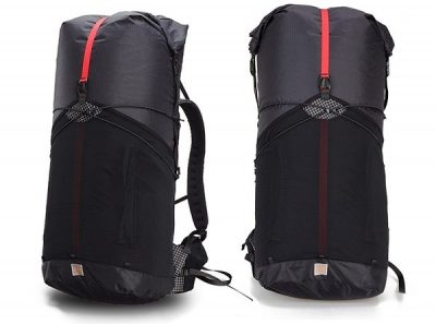 Black 3F UL Trajectory Backpack available in small and large sizes.