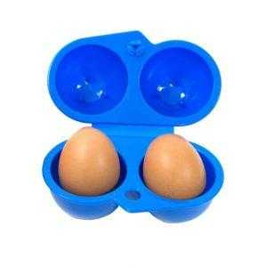 Egg Holder Protector Container 2 Eggs Blue