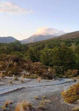 Greeted with an awesome view of Mt Ngauruhoe