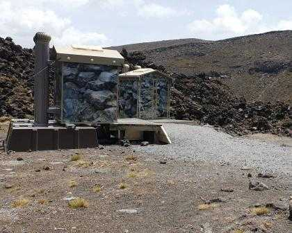 Last toilet stop before Mangatepopo Hut and Campsite on Tongariro Northern Circuit