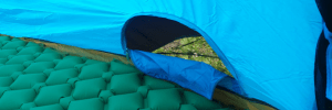 Lightweight tent for camping side air pocket