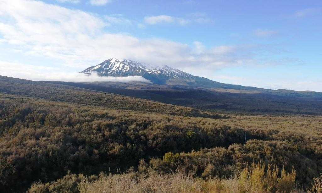 Tongariro Northern Circuit view of Mt Ruapehu