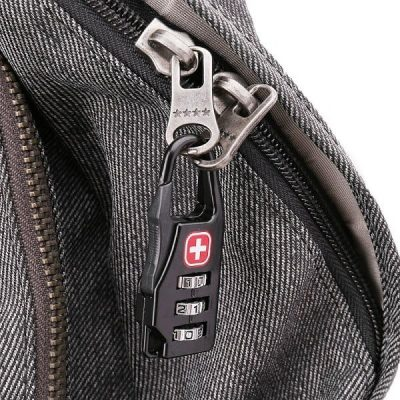 Small combination lock for locking tents use photo