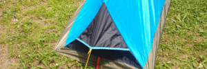 Ventilation at foot end of tent