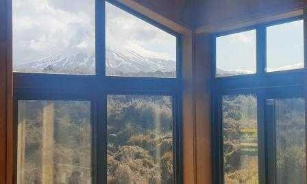 View of Mt Ruapehu from Waihohonu Hut Tongariro Great Walk