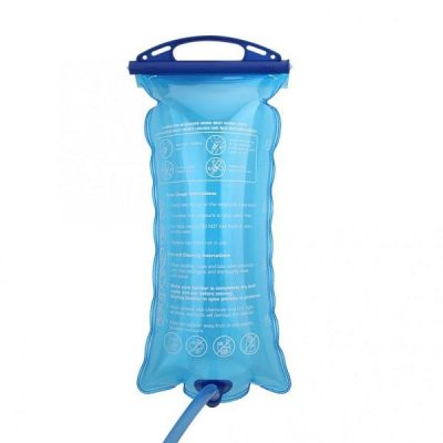 Water Bladder 2L PE Blue hydration bag filled with water