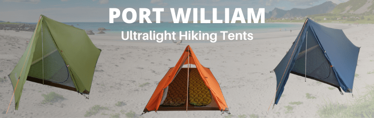 Port William Ultralight Hiking Tents Faded Background