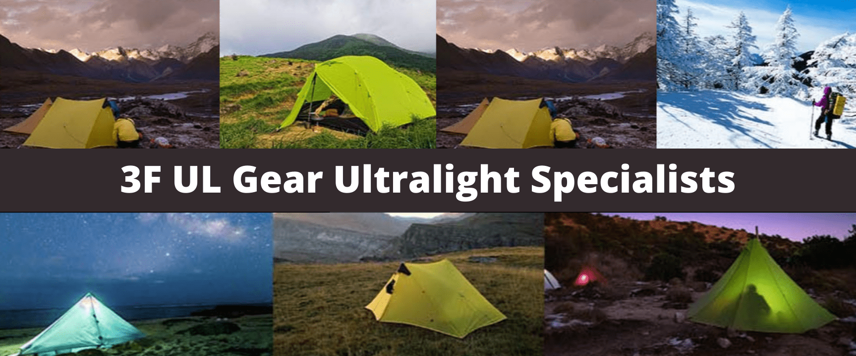 3F UL Gear Ultralight Hiking Banner