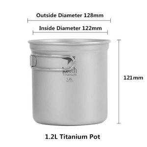 Keith Titanium Ti6052 includes 1.2L Titanium pot