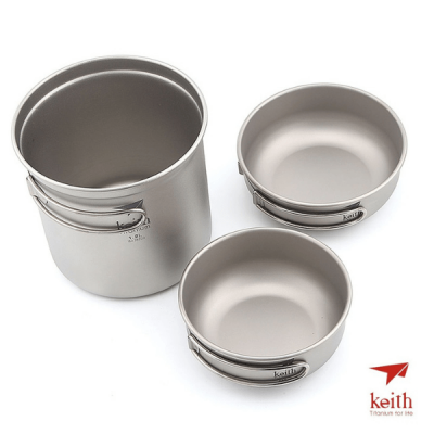 Keith Titanium Ti6052 Pot and Pan Set