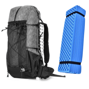 3F UL Backpack ultralight backpack grey with sleeping pad