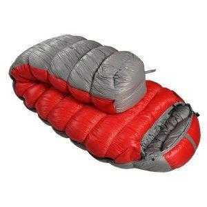 Large Down Sleeping Bag Red