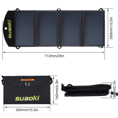 Suaoki Solar Charger 25W dimensions