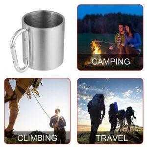 Carabiner handle mug for climbing, camping and travel