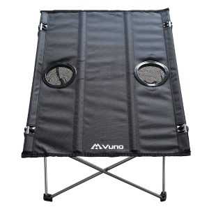 Lightweight camping table front view