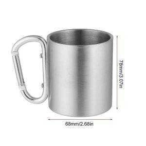 carabiner coffee mug dimensions