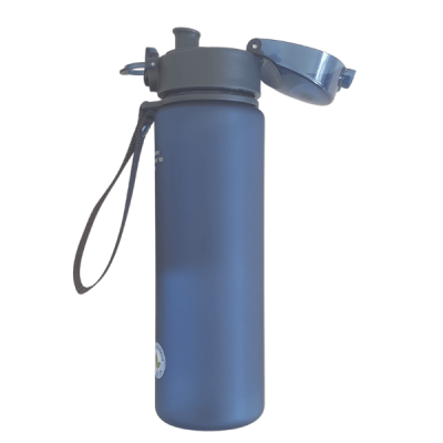 560 ml Blue Bottle Side View