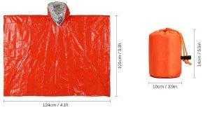 Dimensions of survival raincoat