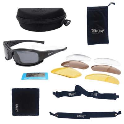 Sunglasses set with 4 lenses