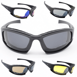 Tactical Polarized Glasses with 4 Lenses