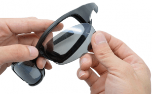 Tactical polarized glasses with changeable lenses