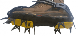 Strap on Crampons Ice Climbing on Hiking Boots