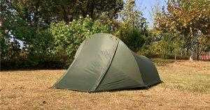 Army Green 2 person Tunnel Tent Set up