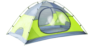 Green inner tent used on its own