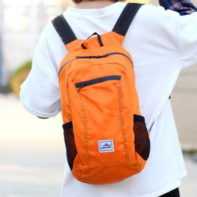 Orange 20L backpack in use