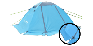 winter tent with snow skirt