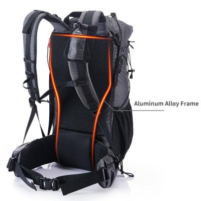 Grey Ultralight weight framed backpack