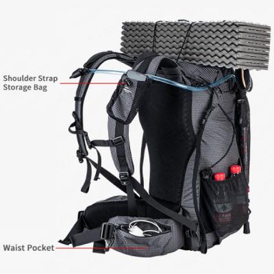 Shoulder strap and waist pockets