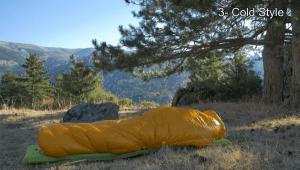 quilt used like mummy style sleeping bag