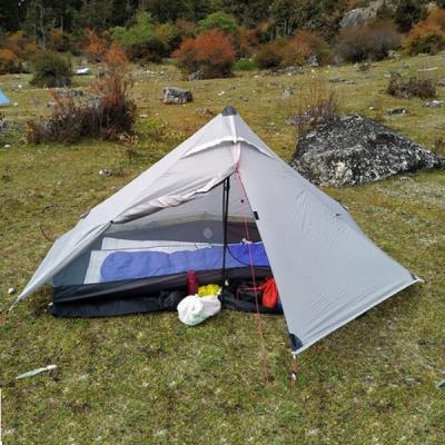 Grey 3F UL Gear Lanshan 1 Pro Tent Setup Outside