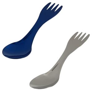 Vuno Stainless Steel Spork Blue Silver Colours