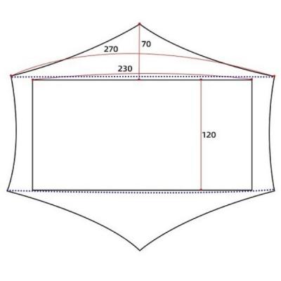 3F UL Gear Lanshan 2 Pro Floor Dimensions