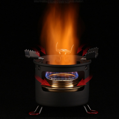 Alcohol Stove burning