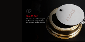 Sealed cap stores up to 110 ml of alcohol