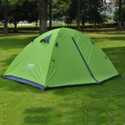 Tent used outside